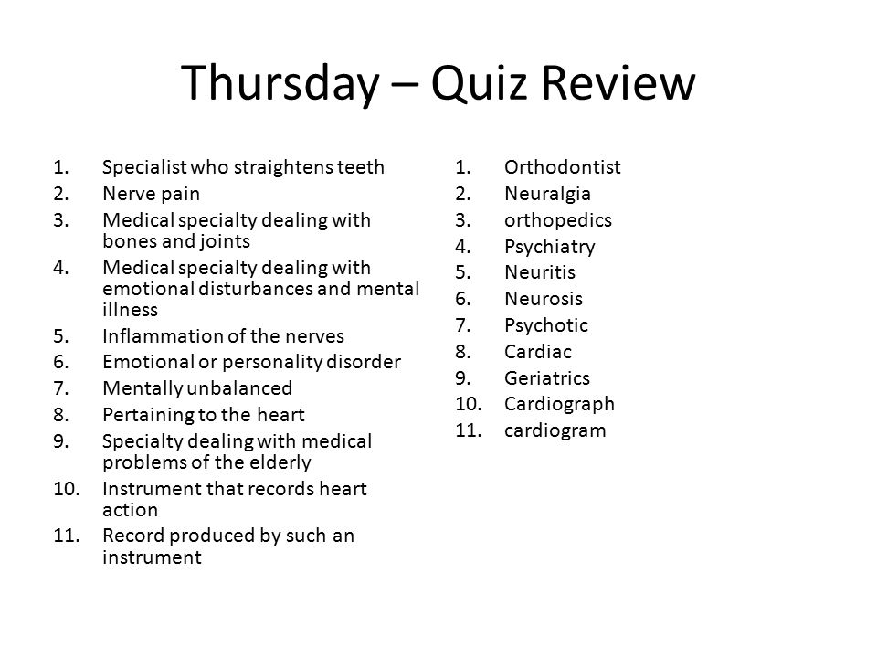 Word Pieces for Week Two How to Talk about Doctors - ppt