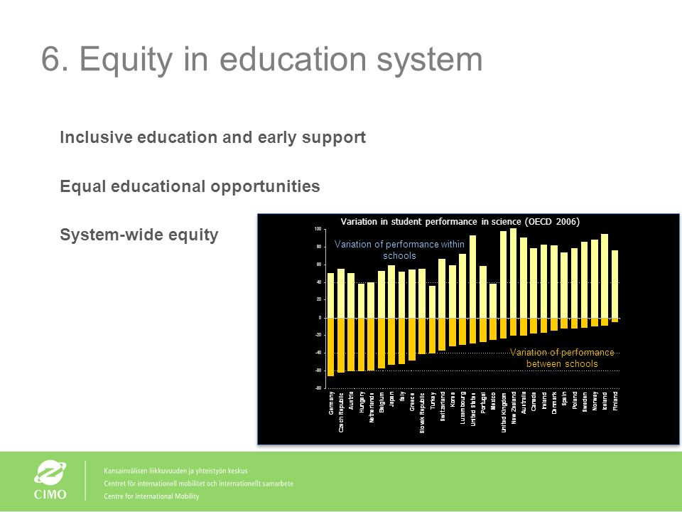 6. Equity in education system