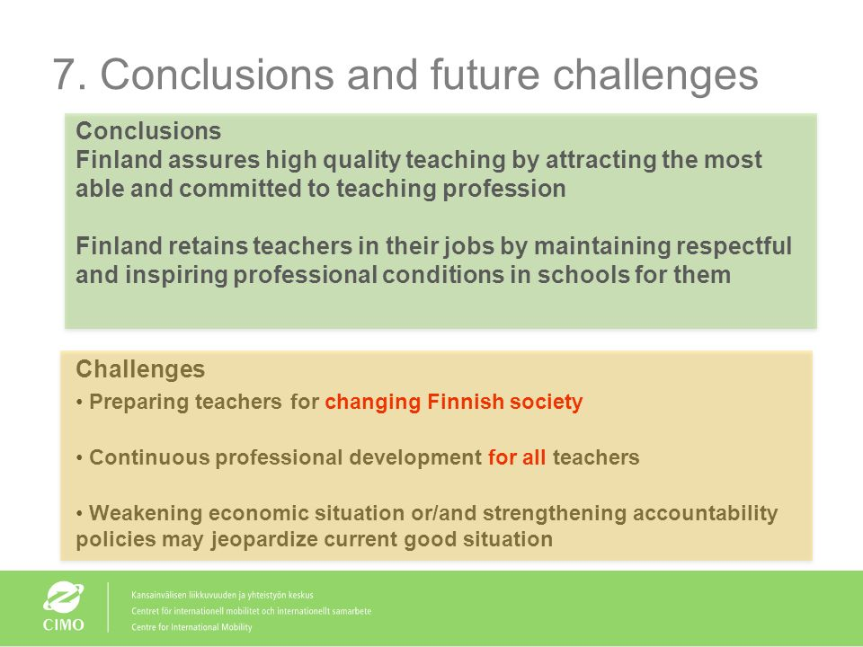 7. Conclusions and future challenges