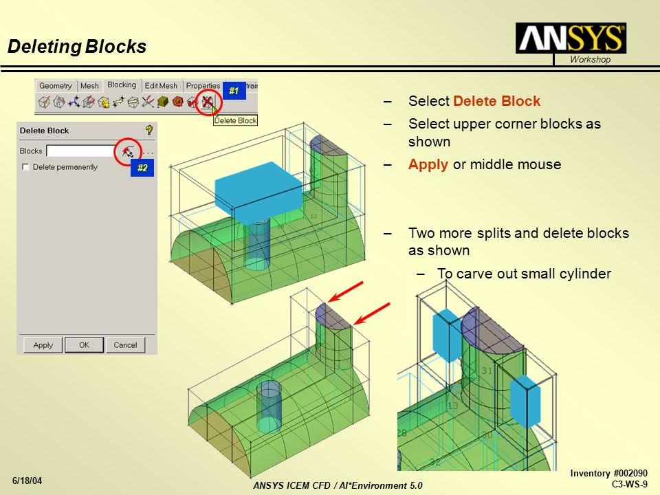 ICEM CFD/AI*Environment 5 0 Hexa Workshop 2 3D Pipe Junction