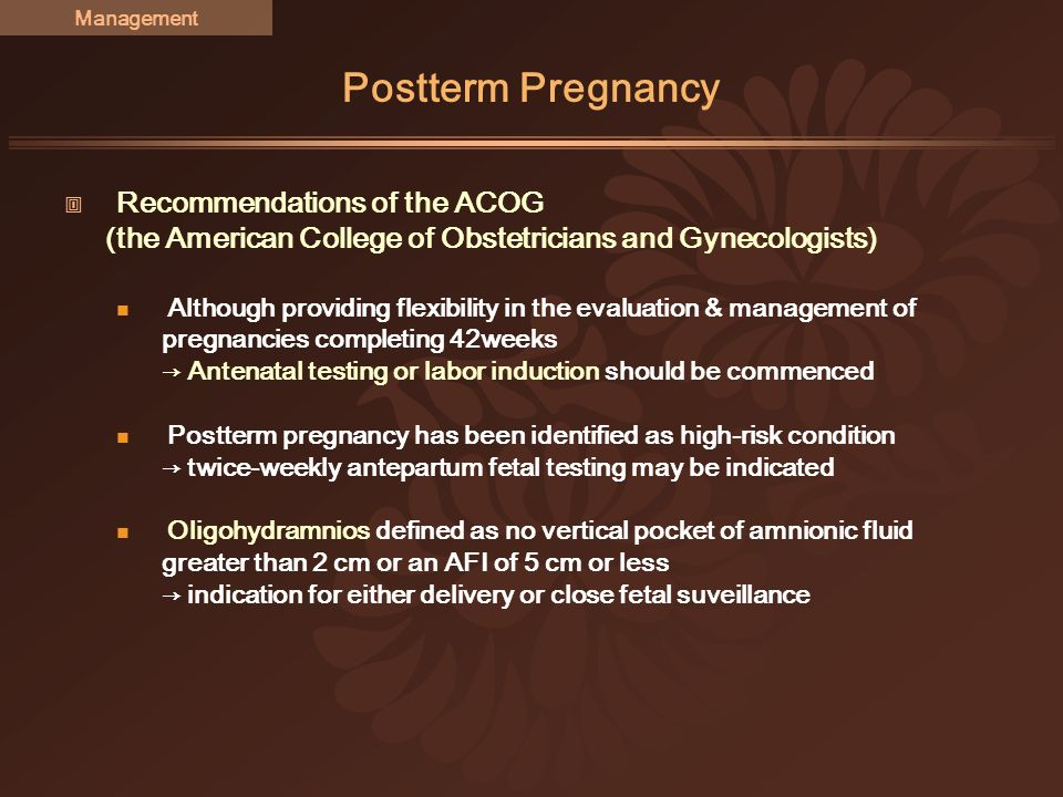 Acog fetal dating