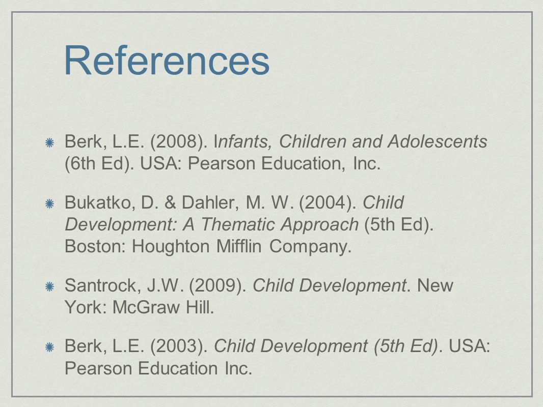 Infants, Children and Adolescents (6th Ed