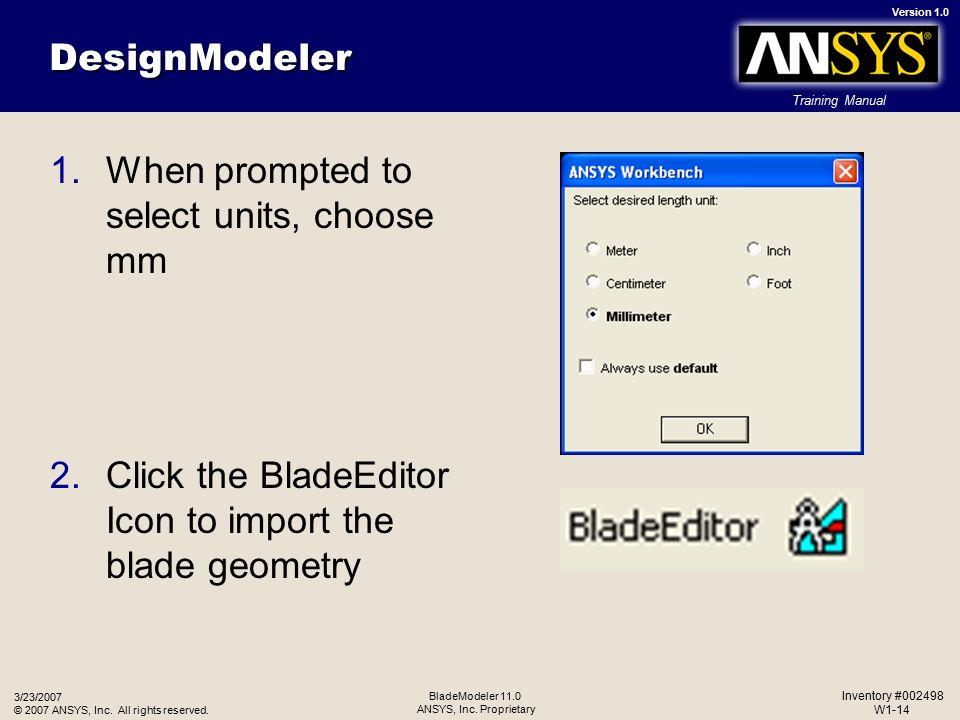 ANSYS BladeModeler 11 0 Practical 1 - ppt video online download