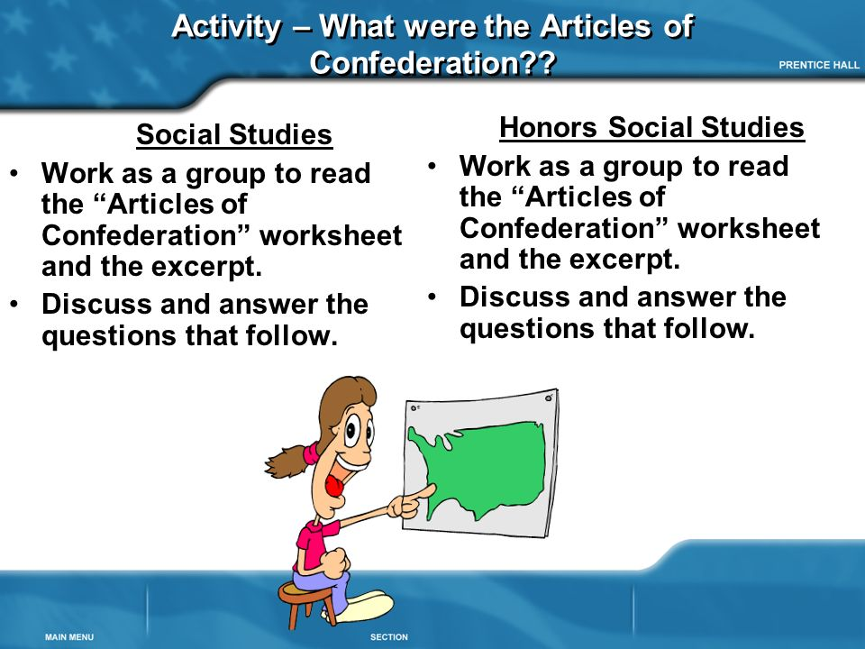 Articles of confederation worksheets 4th grade