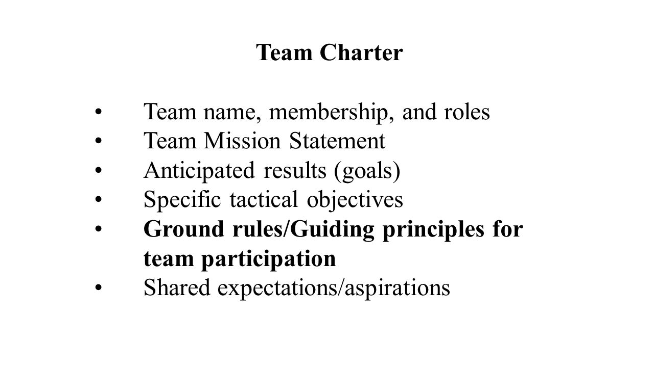4 Team Charter Name Membership