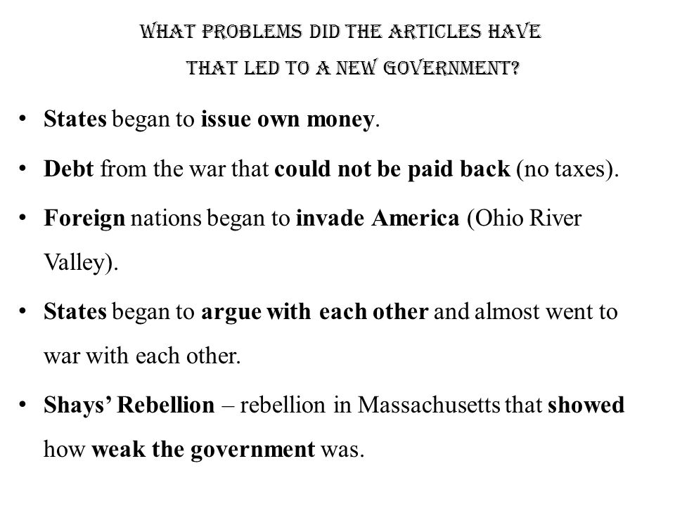 Ordinance And Shays Rebellion Ppt Video Online Download