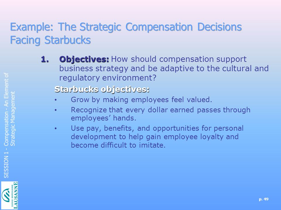 strategic compensation example