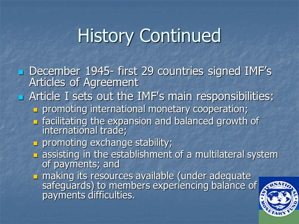 The International Monetary Fund Ppt Download