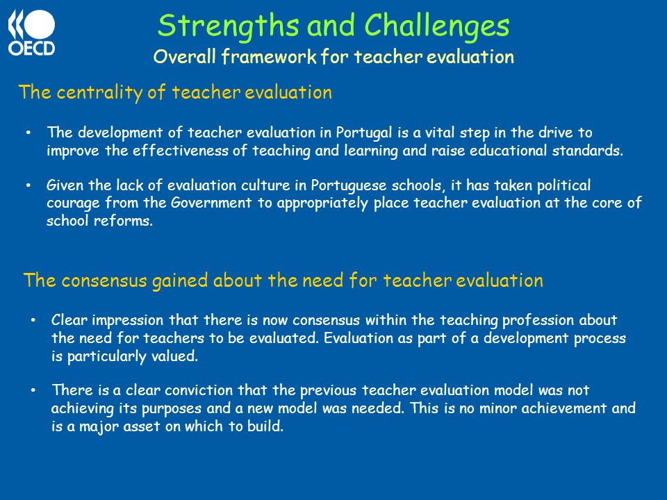 Part 1 Strengths And Challenges Of Teacher Evaluation 3