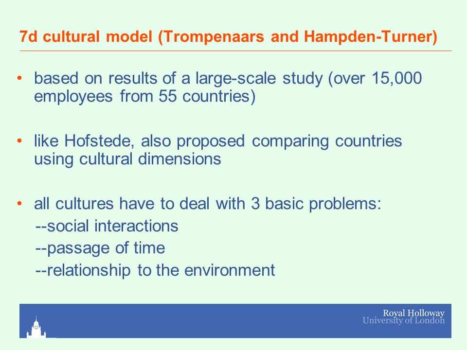hofstede and trompenaars cultural dimensions comparison