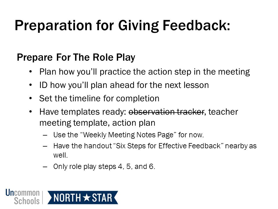 Observation Feedback ppt download – Six Step Lesson Plan