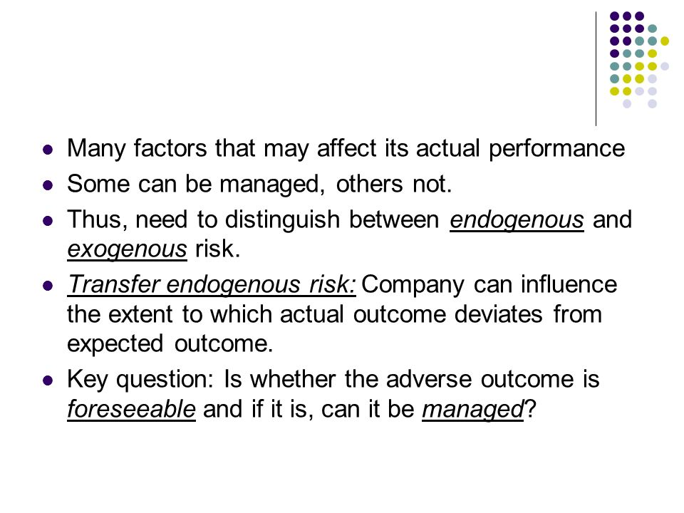 Many factors that may affect its actual performance