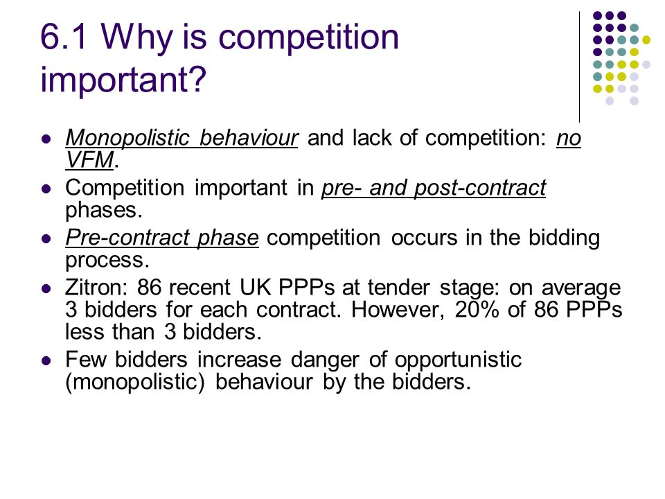 6.1 Why is competition important