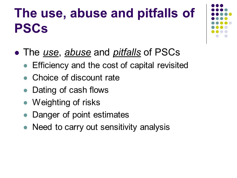 The use, abuse and pitfalls of PSCs