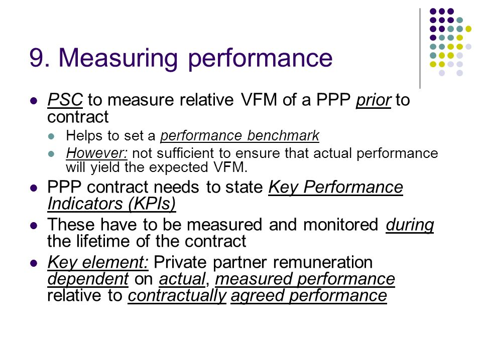 9. Measuring performance