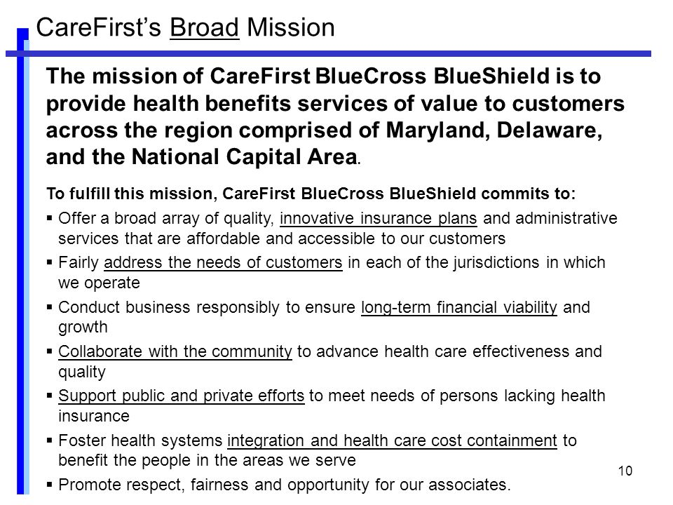 Community Benefit in a NFP Blue Cross Plan: - ppt video