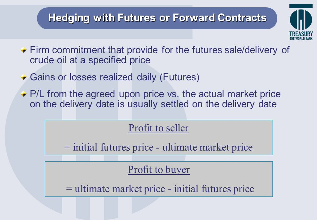 Hedging with Futures or Forward Contracts