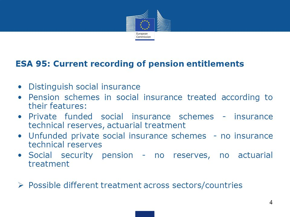 ESA 95: Current recording of pension entitlements