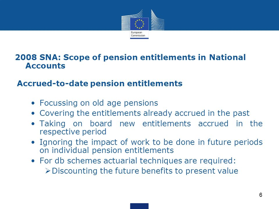 2008 SNA: Scope of pension entitlements in National Accounts