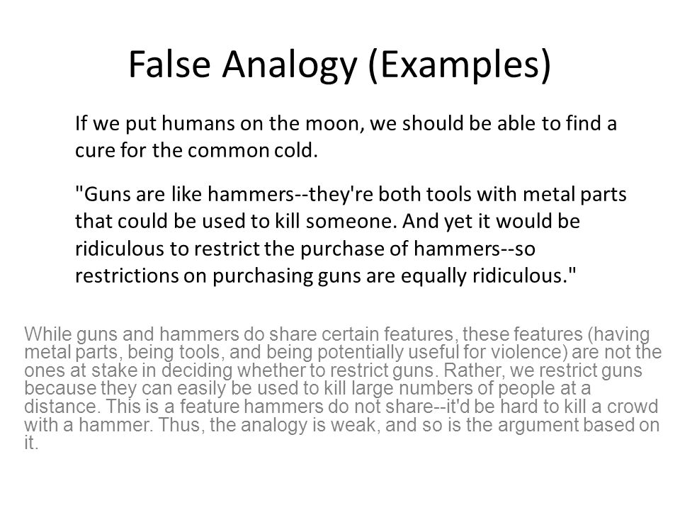 Example Of False Analogy Fallacy Images Example Cover Letter For