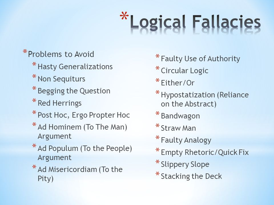 stacking the deck fallacy examples