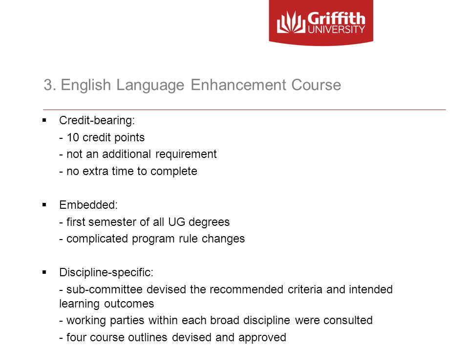 3. English Language Enhancement Course