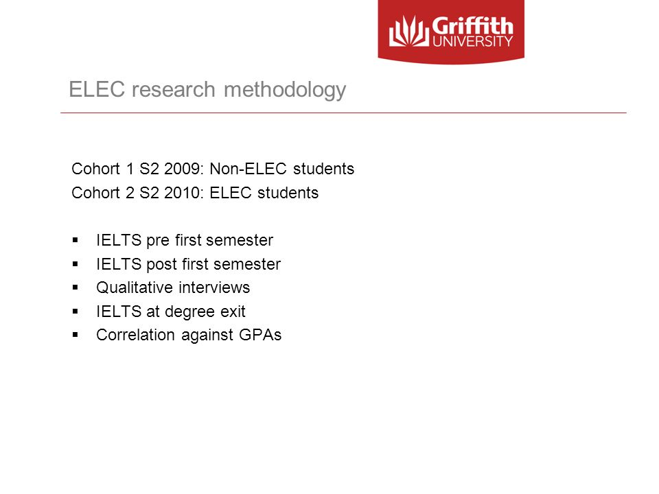ELEC research methodology