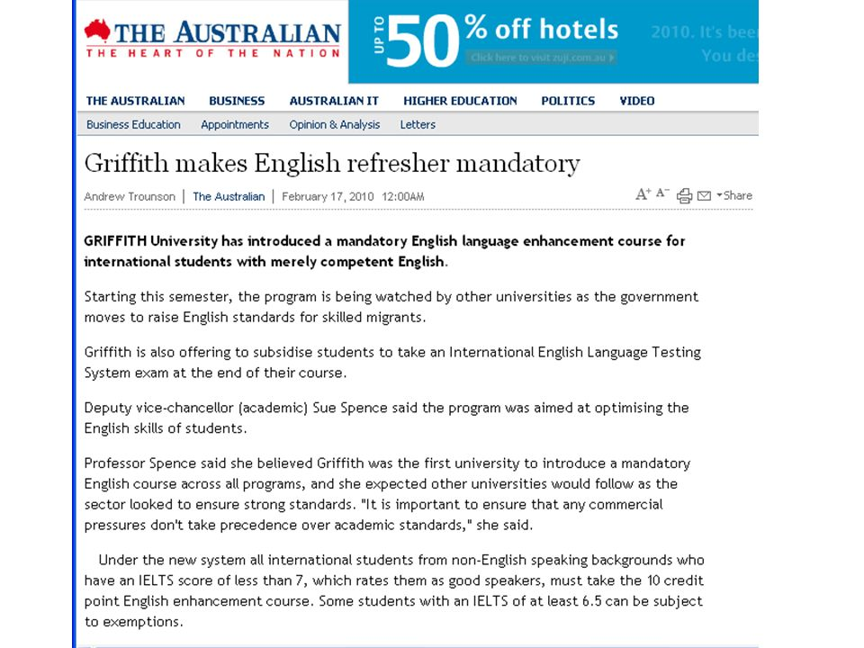 The ELEC commenced this semester and was featured in The Australian on 17 Feb the week before the roll-out, indicating the degree of national interest.