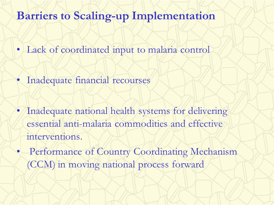 Barriers to Scaling-up Implementation