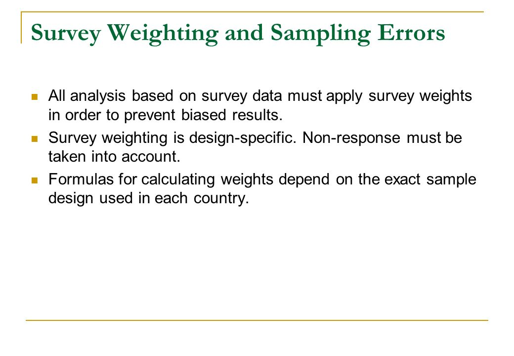 Survey Weighting and Sampling Errors
