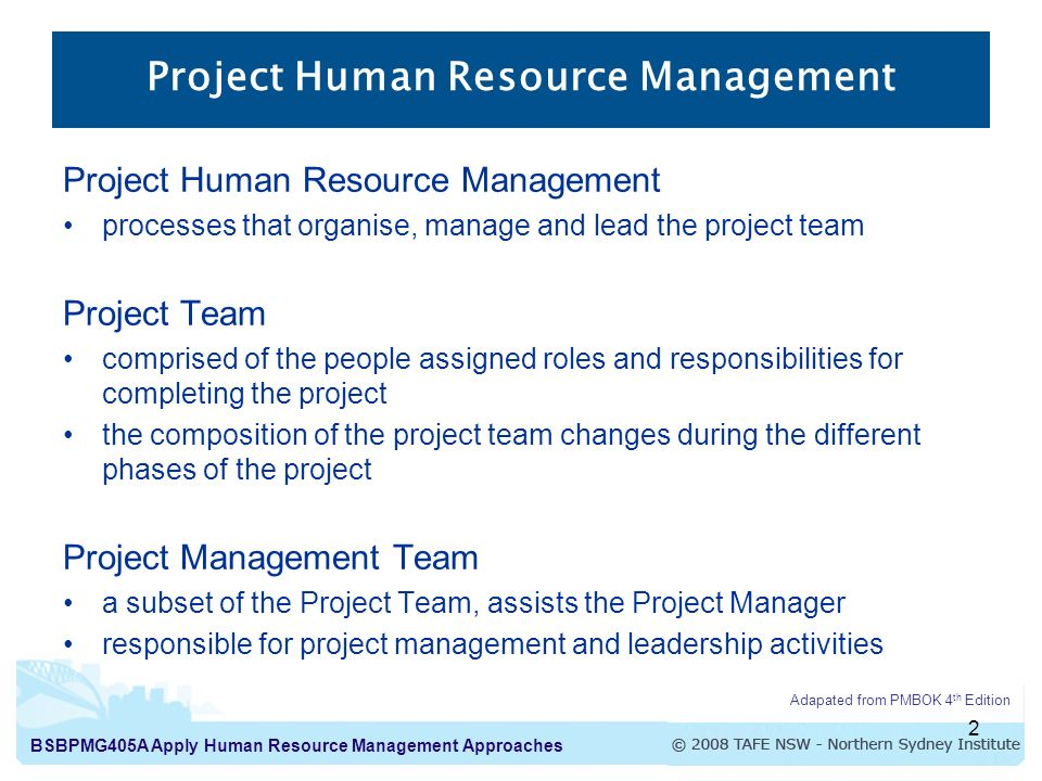 Apply Human Resource Management Approaches Introduction to Human ...