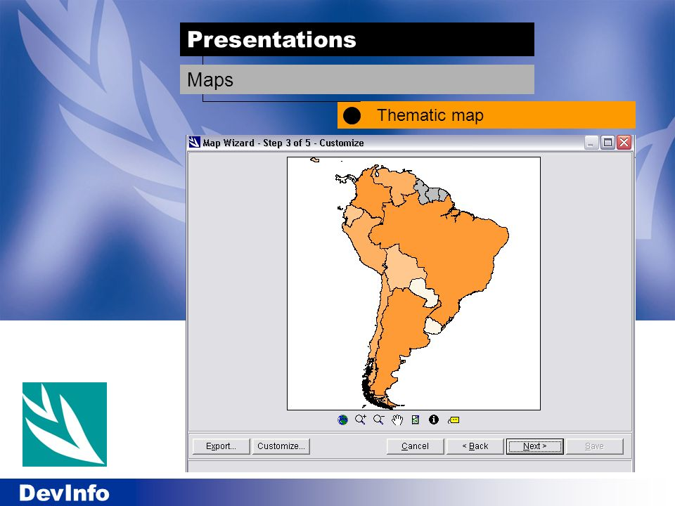 Presentations Thematic map Maps