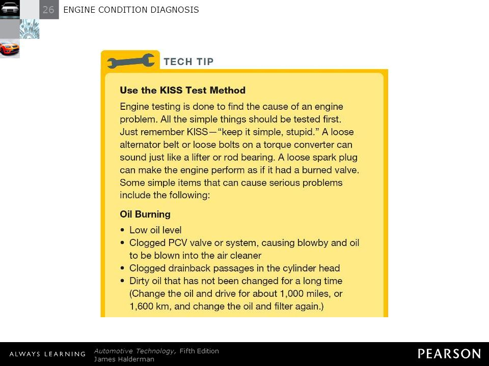 ENGINE CONDITION DIAGNOSIS - ppt download
