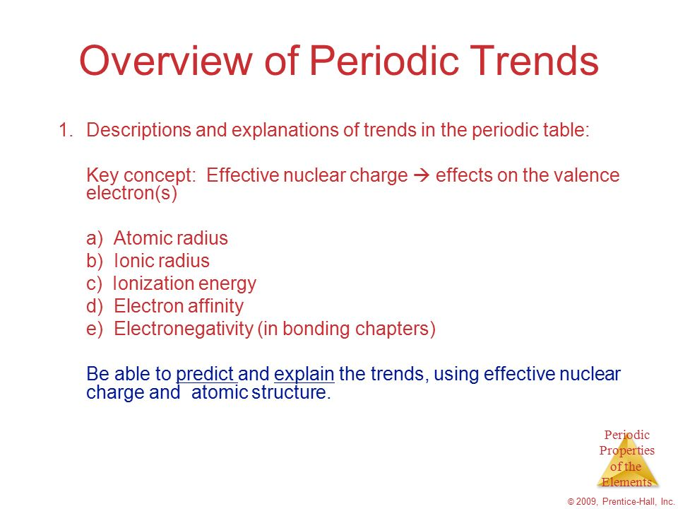 Chapter 7 periodic properties of the elements ppt video online overview of periodic trends urtaz Images