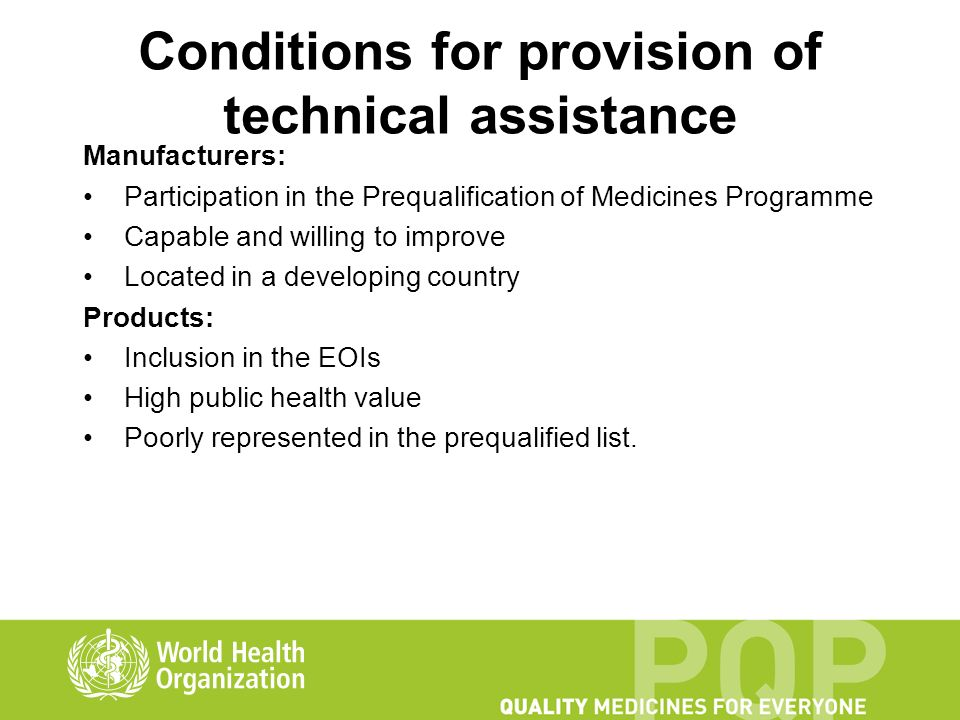 WHO Prequalification of Medicines Programme - ppt video
