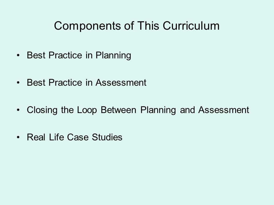 Components of This Curriculum