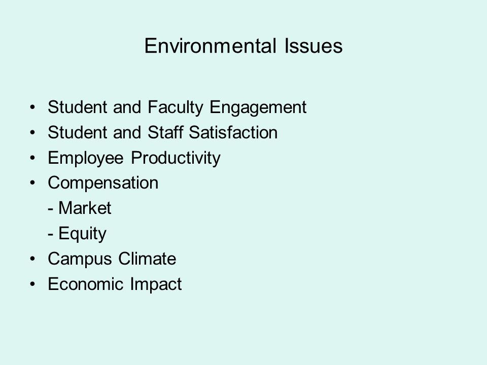 Environmental Issues Student and Faculty Engagement