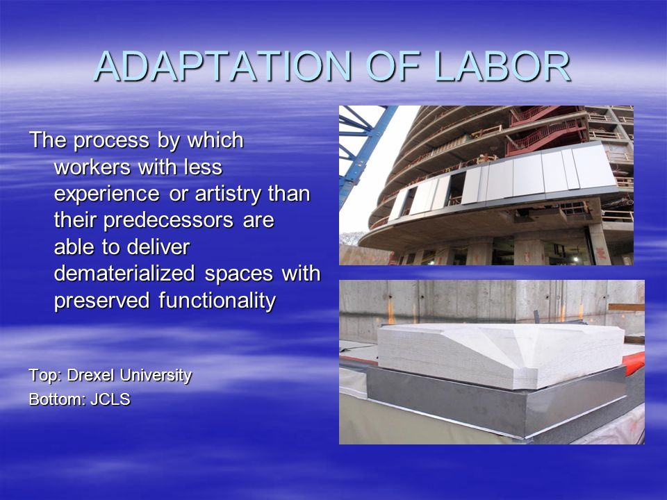 ADAPTATION OF LABOR