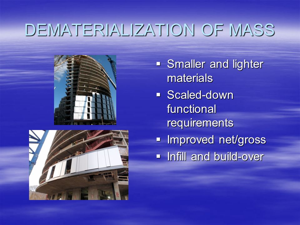 DEMATERIALIZATION OF MASS