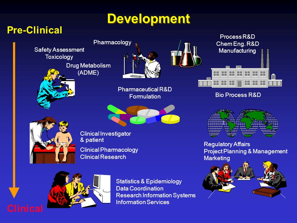 Development Pre-Clinical Clinical Process R&D Chem Eng. R&D