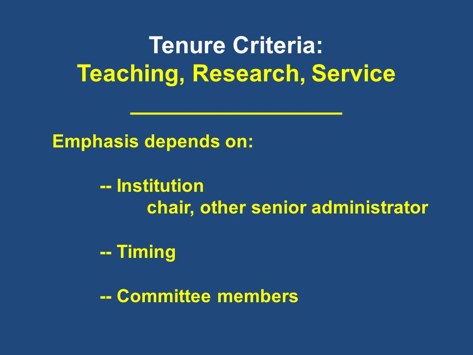 Teaching, Research, Service