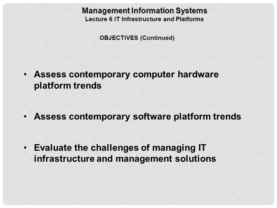 evaluate the challenges of managing it infrastructure and management solutions