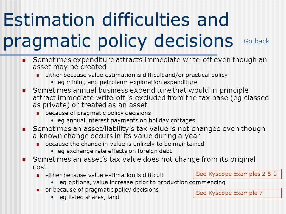 Estimation difficulties and pragmatic policy decisions