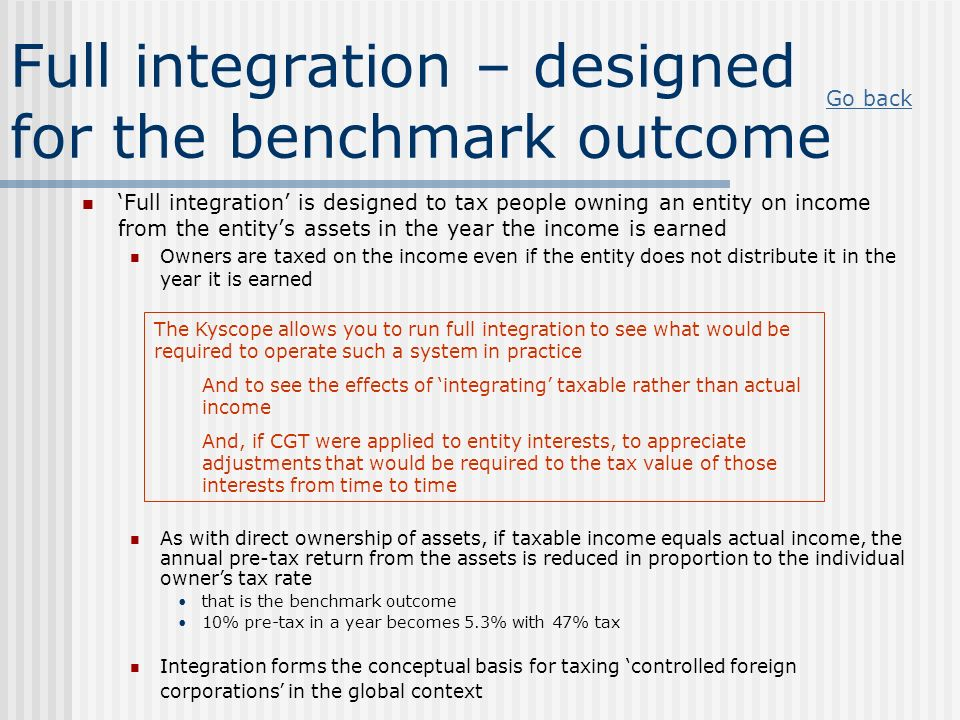 Full integration – designed for the benchmark outcome