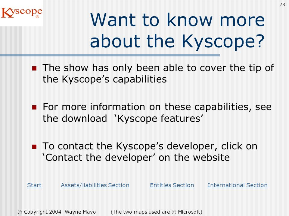 Want to know more about the Kyscope