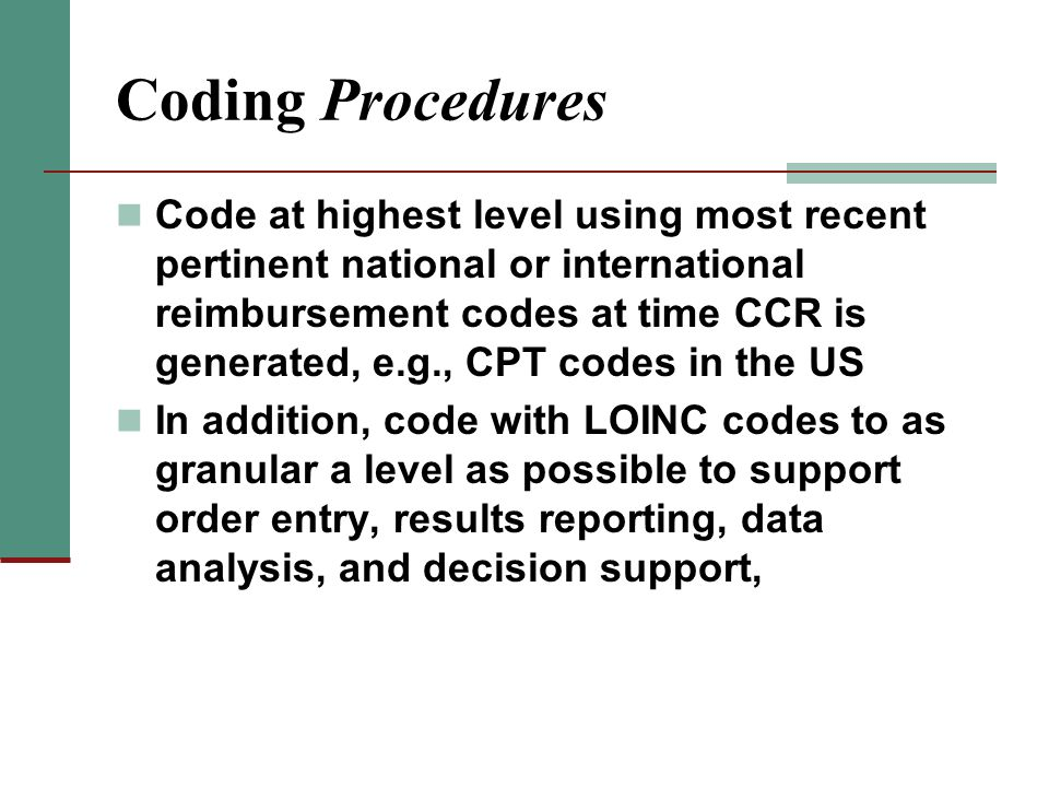 Coding Procedures