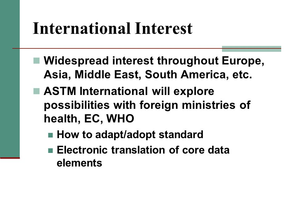 International Interest