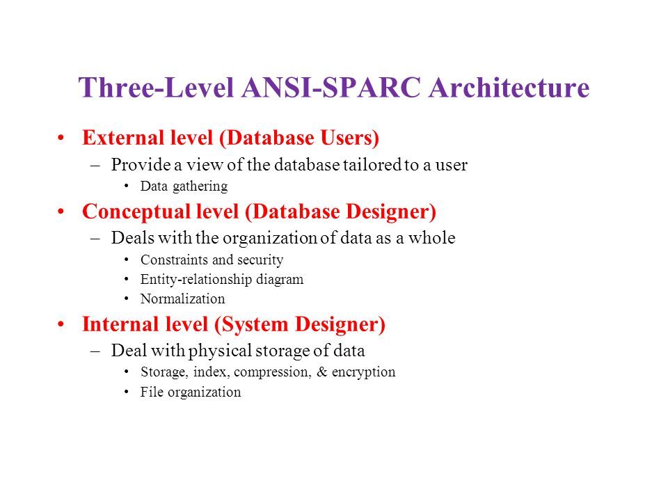 Three-Level ANSI-SPARC Architecture