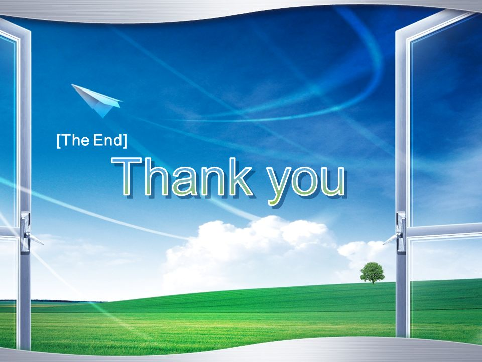 [The End] Thank you