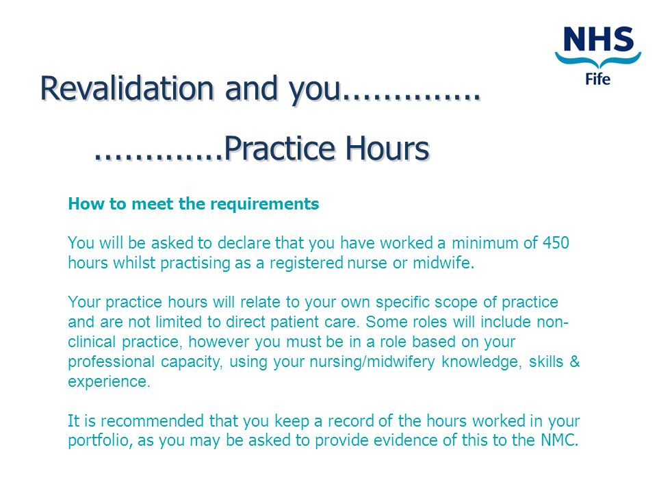 Revalidation and you Practice Hours